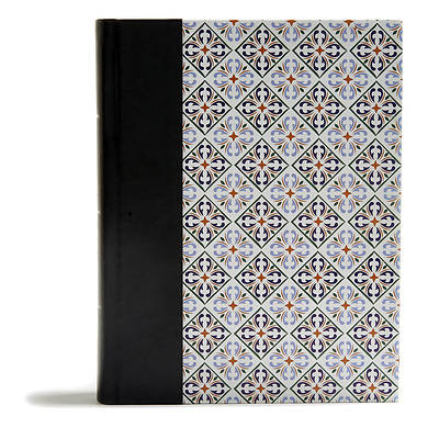 Picture of CSB Legacy Notetaking Bible, Spanish Tile Leathertouch-Over-Board