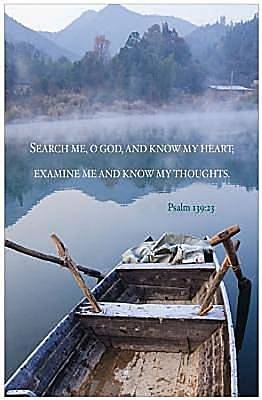 Boat on Lake Scripture Series Bulletin, Regular (Package of 50)