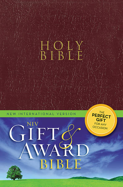 NIV Gift and Award Bible Burgundy - Case of 28