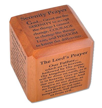 Mahogany Popular Prayers Scripture Cube