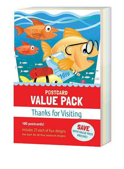 Thanks for Visiting Kids Value Pack Postcard - Pack of 100
