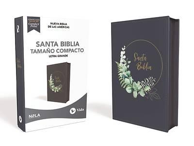 Picture of Nbla Santa Biblia, Letra Grande, Tamaño Compacto, Leathersoft, Azul Marino, Con Cierre, Edición Letra Roja