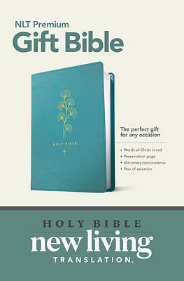 Picture of Premium Gift Bible NLT (Red Letter, Leatherlike, Teal)