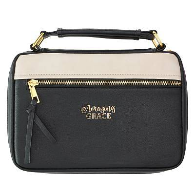 Picture of Bible Cover Medium Luxleather Amazing Grace Two Tone