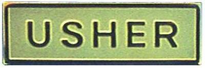 Picture of Gold Metal Usher Magnetic Badge