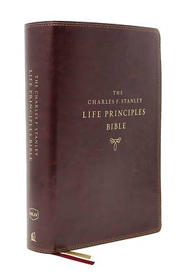 Picture of Nkjv, Charles F. Stanley Life Principles Bible, 2nd Edition, Leathersoft, Burgundy, Comfort Print