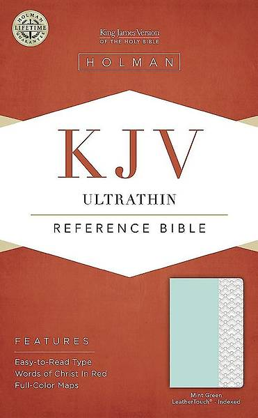 KJV Ultrathin Reference Bible, Mint Green Leathertouch, Indexed