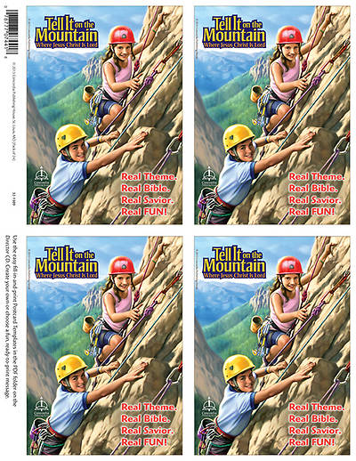 Concordia Vacation Bible School 2013 Tell It On The Mountain Publicity Postcard (pkg of 24)