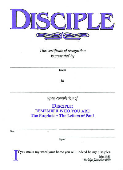 Disciple III Remember Who You Are: Certificates (Pkg of 6)