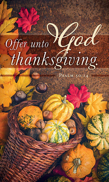 Picture of Offer Unto God Thanksgiving 3' X 5' Fabric Banner