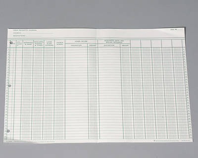 Picture of Cash Receipts Journal Sheet