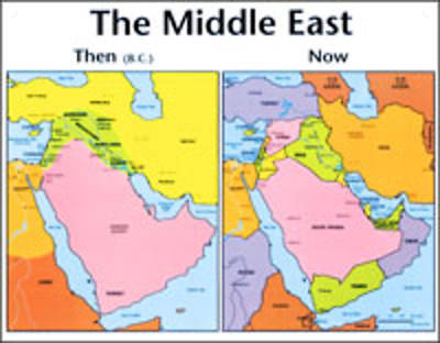 Picture of Middle East: Then And Now Bible Map® - Wall Map - Laminated