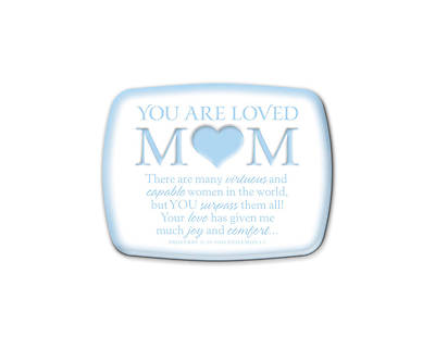 Mom You Are Loved Ceramic Plaque