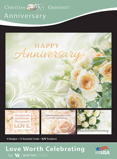 Picture of Love Worth Celebrating Anniversary Boxed Cards (Box of 12)
