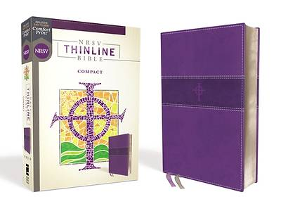Picture of Nrsv, Thinline Bible, Compact, Leathersoft, Purple, Comfort Print