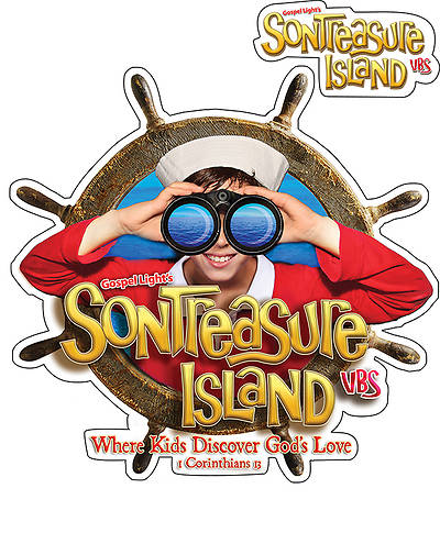 Gospel Light VBS 2014 SonTreasure Island Iron-On T-Shirt Transfer 10pk