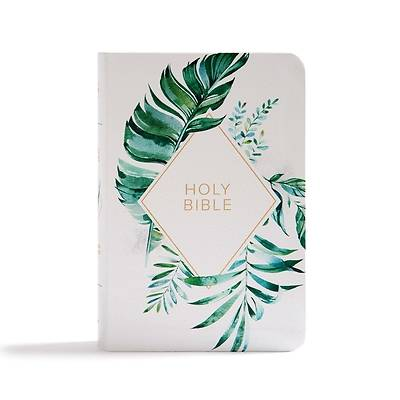 Picture of CSB On-The-Go Bible, White Floral Textured Leathertouch