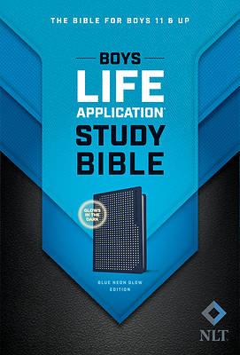 Picture of NLT Boys Life Application Study Bible, Tutone (Leatherlike, Blue/Neon/Glow)
