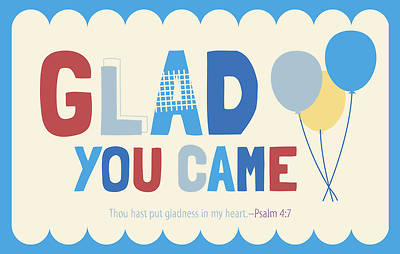 Picture of Glad You Came Psalm 4:7 Postcard