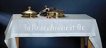"In Remembrance of Me Communion Table Cover, 47""x 80"""