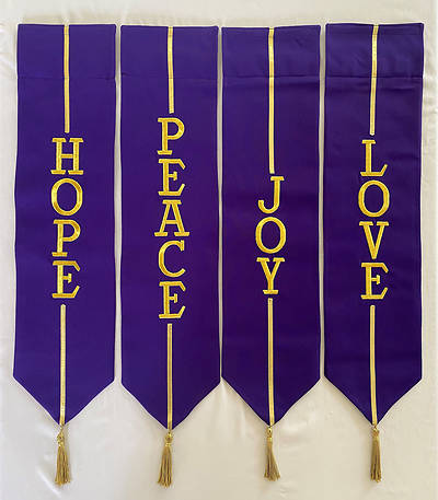 Picture of Advent Wreath Banners - Purple and Gold
