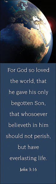 John 3:16 KJV Bookmark - Pack of 25