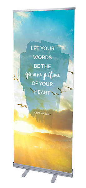 Picture of Let Your Words Nature Scene Words of Wesley Rollup Banner