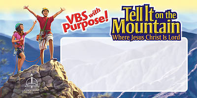 Concordia Vacation Bible School 2013 Tell It On The Mountain Indoor/Outdoor Banner