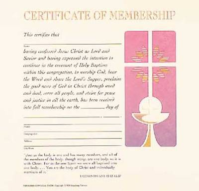 Contemporary Full-Color Membership Flat Certificate (Package of 12)