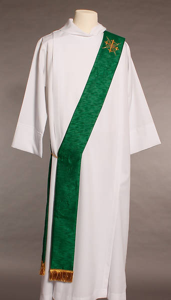 MDS Green Greek Cross Deacon Stole