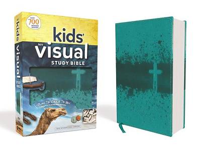 NIV Kids Visual Study Bible, Imitation Leather, Teal, Full Color Interior