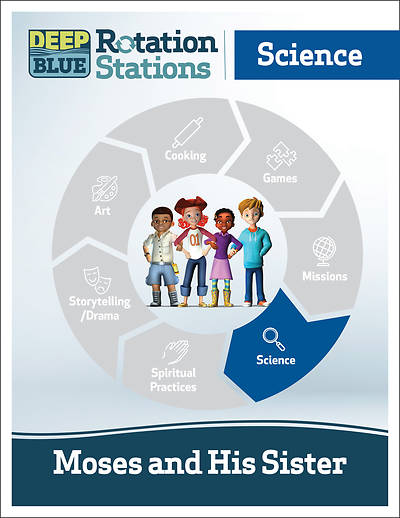 Picture of Deep Blue Rotation Stations: Moses and His Sister - Science Station Download