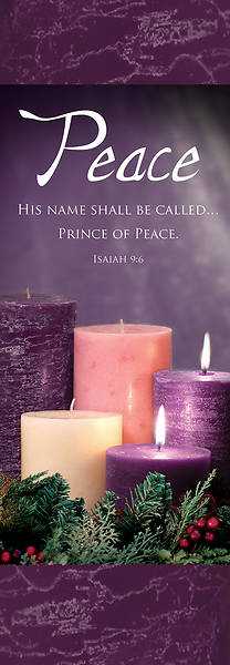 Picture of Advent Week 2 2' x 6' Fabric Banner Isaiah 9:6