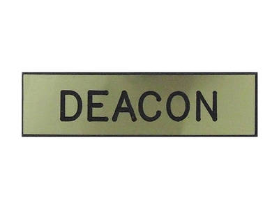 Gold and Black Deacon Pin-On Badge
