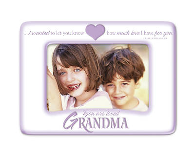 Grandma You Are Loved Ceramic Photo Frame