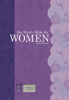 Picture of The Study Bible for Women, NKJV Edition, Purple/Gray Linen, Indexed