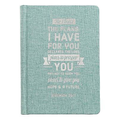 Picture of Journals Hardcover Linen Plans Teal