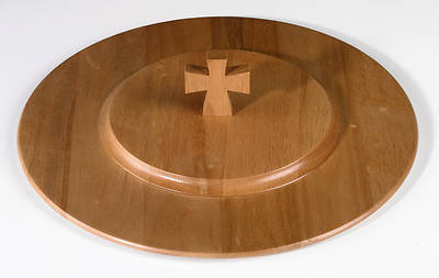 Maple Communion Tray Cover - Pecan Finish