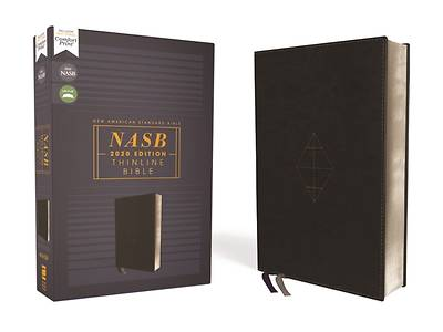 Picture of Nasb, Thinline Bible, Leathersoft, Black, Red Letter Edition, 2020 Text, Comfort Print