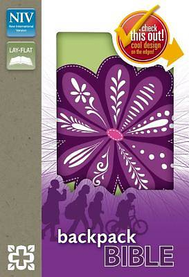 Picture of Backpack Bible-NIV-Purple Blossom