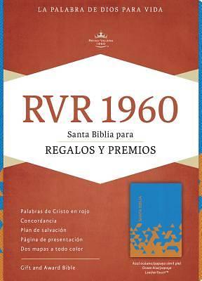 Picture of Rvr 1960 Biblia Para Regalos y Premios, Azul Oceano/Papaya Simil Piel