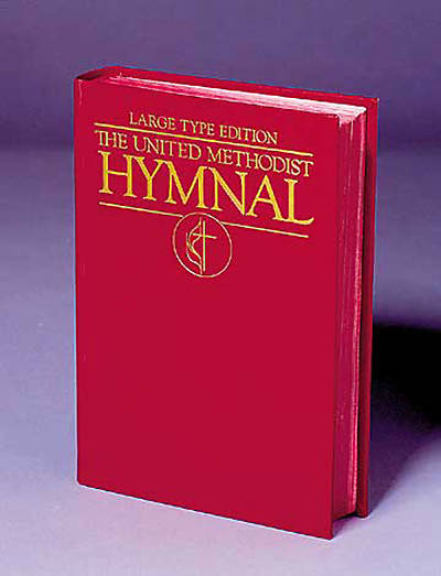 Picture of The United Methodist Hymnal Dark Red Large Type Edition