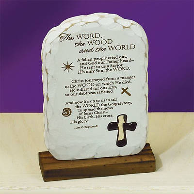 """The Word, the Wood and the World"" Plaque"