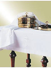 """Picture of Lin-Look Plain Communion Elements Cover - 47""""x90"""""""
