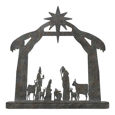 "Picture of Metal Nativity 15 1/2""L X15 1/2""H"