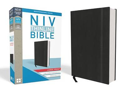 NIV, Thinline Bible, Large Print, Hardcover, Black, Red Letter Edition