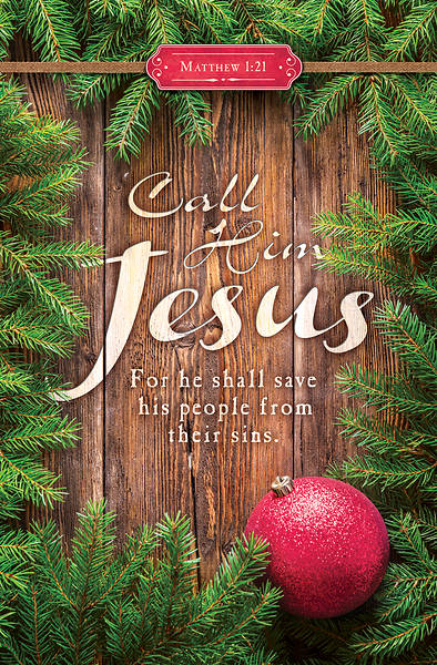 Picture of Call Him Jesus Christmas Regular Size Bulletin
