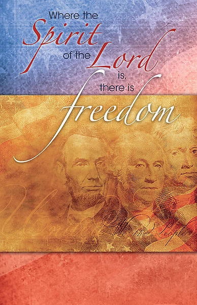 Picture of Where the Spirit of the Lord is, There is Liberty Patriotic Regular Size Bulletin