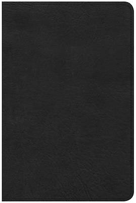 Picture of CSB Compact Ultrathin Reference Bible, Black Leathertouch