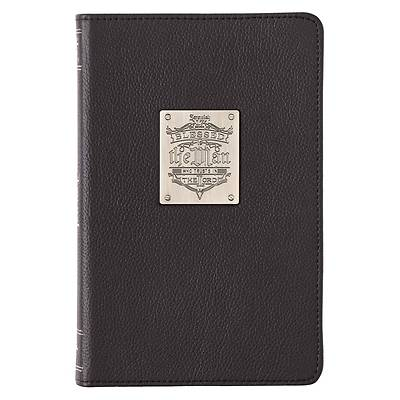 Picture of Leather Journal Blessed Is the Man Badge Jer. 17